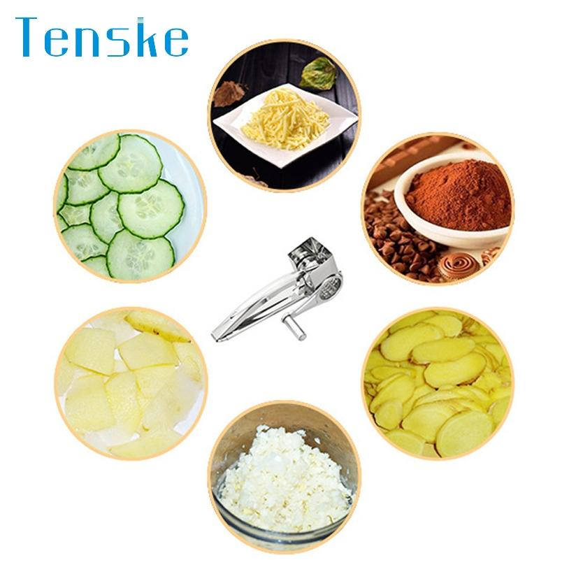 Tenske cheese grater stainless steel a No Rust Hand-Crank Rotary Shredder*30 GIFT Drop Poster New Hot