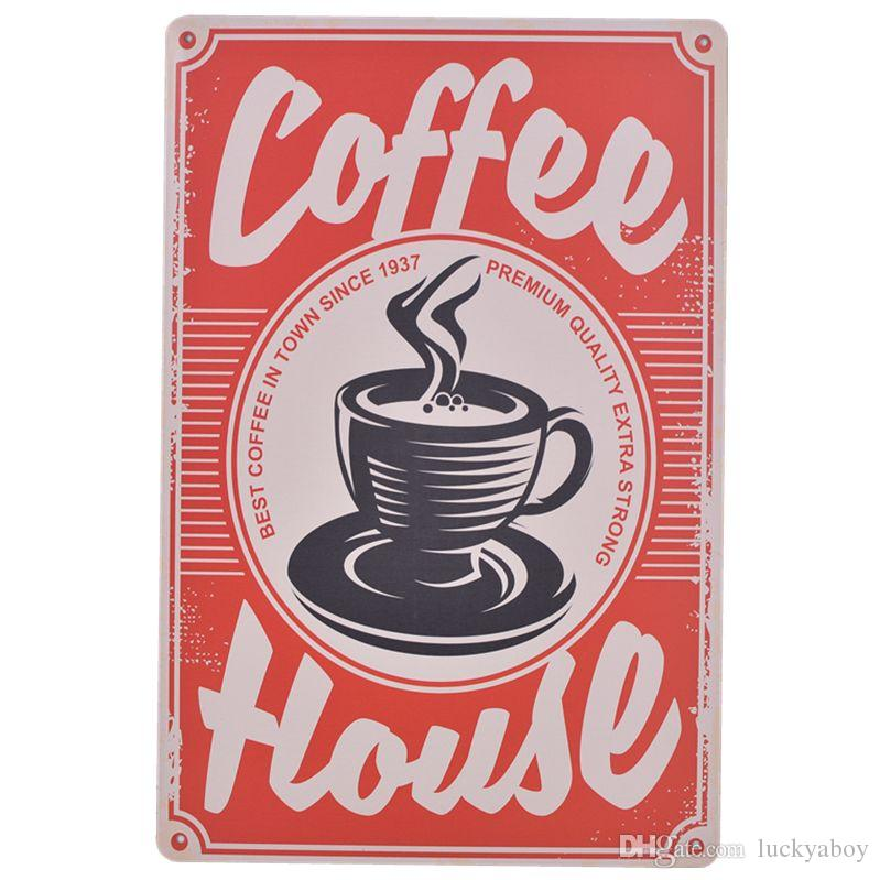 Metal Tin sign the best coffee in town Decor Bar Pub Home Vintage Poster Cafe