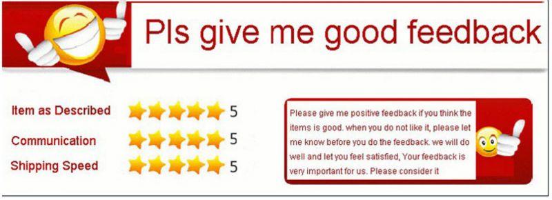 5 stars feedback