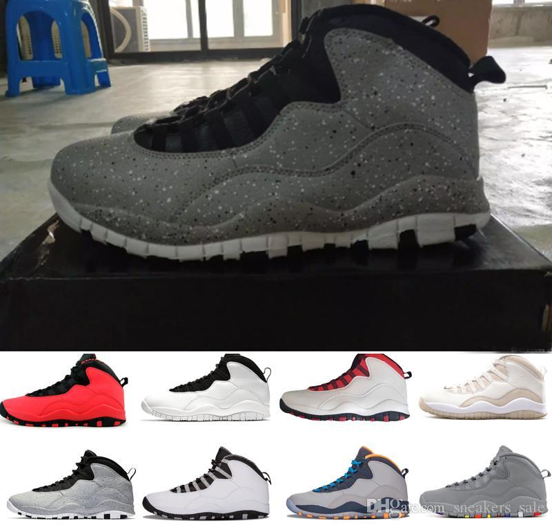 Zapatos de diseñador 10 zapatos de baloncesto para hombre de cemento 10s Westbrook I'm Back Steel Grey blanco Bobcats hombres entrenadores zapatillas deportivas tamaño US 8-13