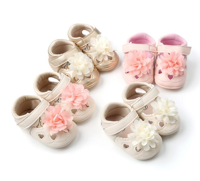 ROMIRUS flower style baby girls shoes infants soft sole toddler moccasins Breathable PU leather summer baby shoes