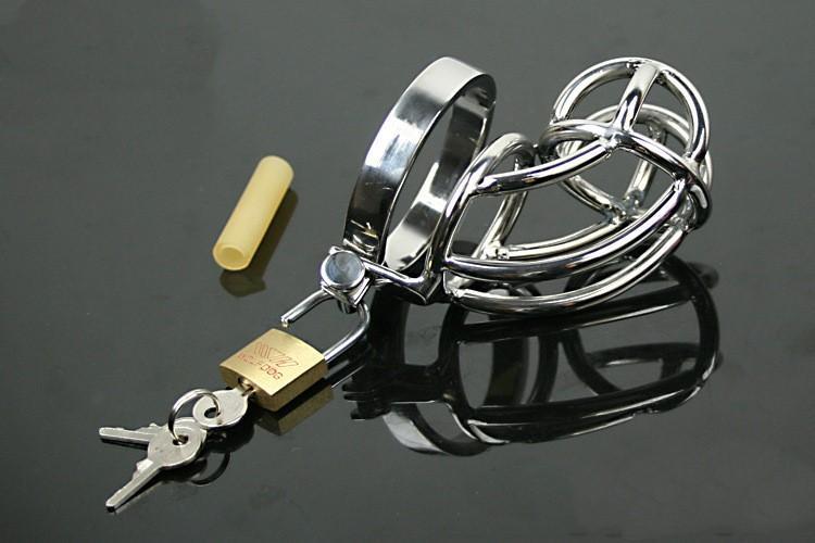 Dispositivo maschio di arte di castità di acciaio inossidabile 304-acciaio / gabbia / anello del gallo / giocattoli del sesso del feticcio di SM / anelli del pene