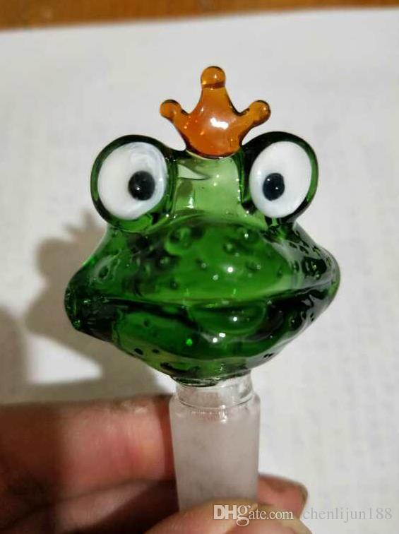 Kurbağa karikatür kabarcık kafa, Petrol Su Boruları Cam Boru Petrol Kuyuları Sigara Toptan Cam bonglar, Ücretsiz Kargo