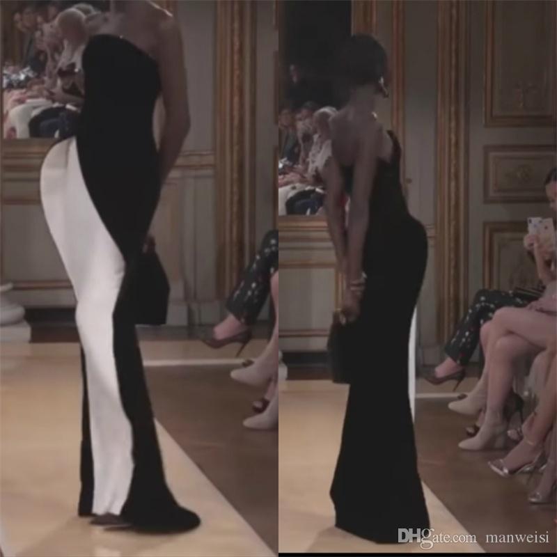Novo Design 2018 Sereia Vestidos de Noite Sem Alças Sem Encosto Longo Prom Vestidos Custom Made Red Carpet Vestido Formal