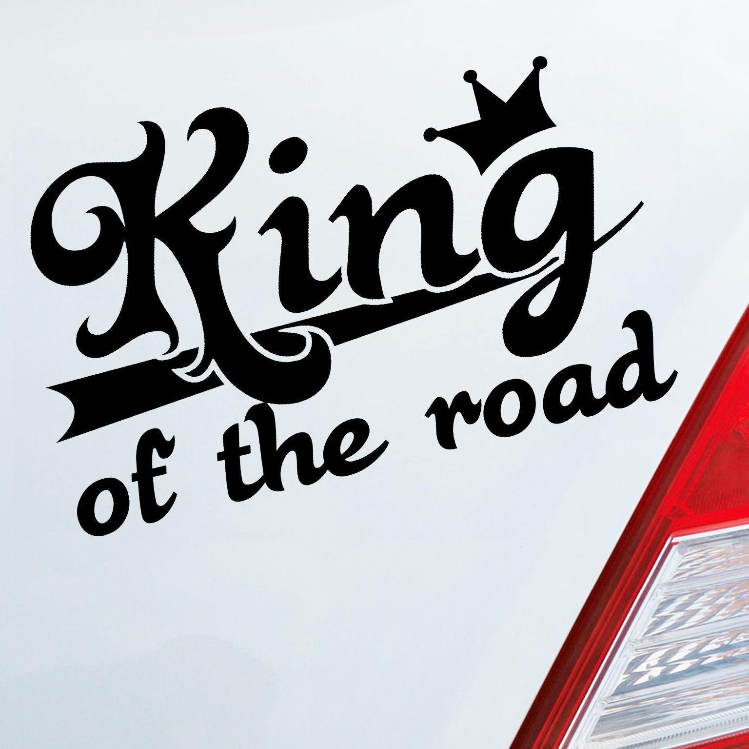 14 * 9 cm Rey de la carretera rey corona linda moda interesante accesorios de coche vinilo decoración calcomanías etiqueta engomada del coche