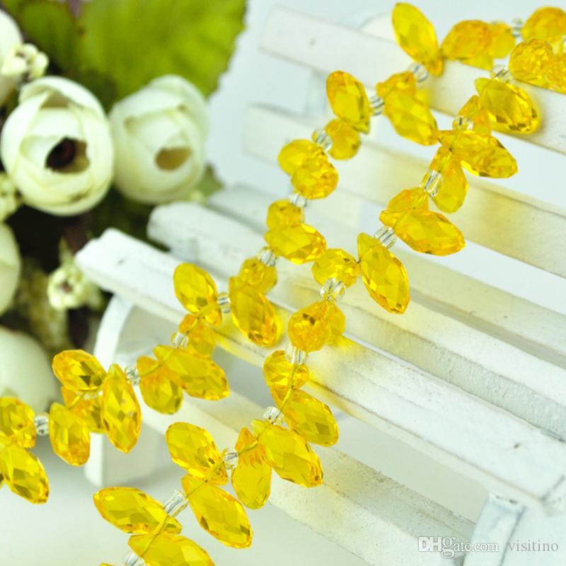 6 * 12 ملليمتر الدمعة حبات الكريستال الصغيرة 100 قطعة / الوحدة شفاف الأبيض زجاج كريستال الخرز لصنع المجوهرات قلادة ديي