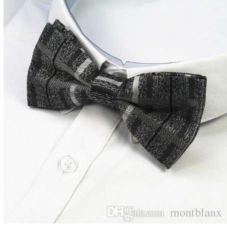 GUSLESON Nuevo Diseño de Lujo Corbata de lazo Para Hombres Poliéster Seda Pajaritas Hombre de Calidad Bowties Traje Del Banquete de Boda Hombre Corbatas