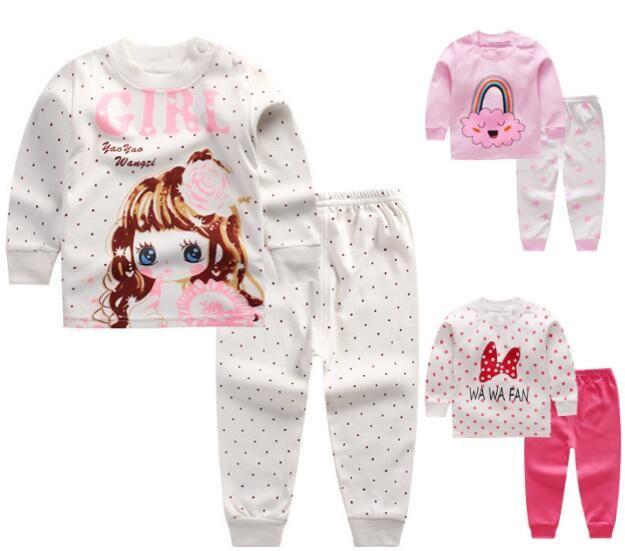 100% Cotton Baby Kids Girls Boys Nightwear Pajamas Pyjamas Sleepwear Suit 0-5 years 36 styles for choose