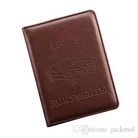 Russian Driver's License PU Leather Cover for Car Driving Documents Business Card Holder ID Card Holder -- BIH004 PM15