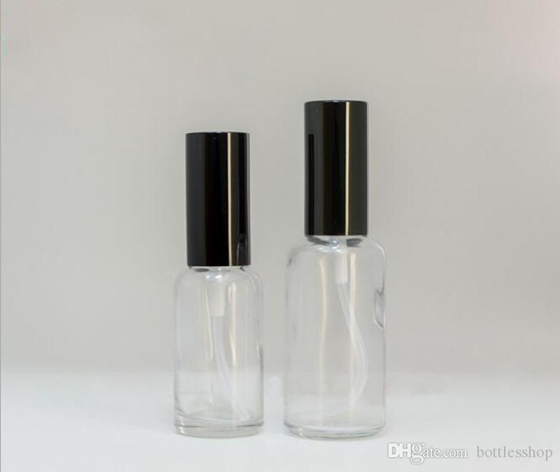 Wholesale Usa Uk Clear Glass Spray Bottles 30ml Portable Refillable Bottles With Perfume Atomizer Black Cap Free Dhl Plastic Bottles Suppliers Empty