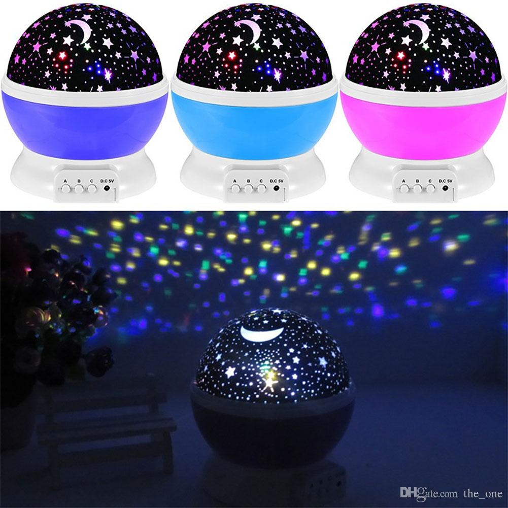 Romantic Starlight Starry Sky USB Night Light Projector Star Master 3 Push Button Baby Sleep Lighting Led Star Moon Lamp Gift For New year