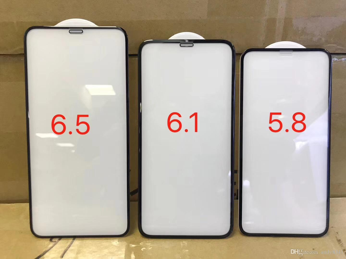 5D Glass Film For IPhone XS XR XS Max Size Includes 5 8 6 1