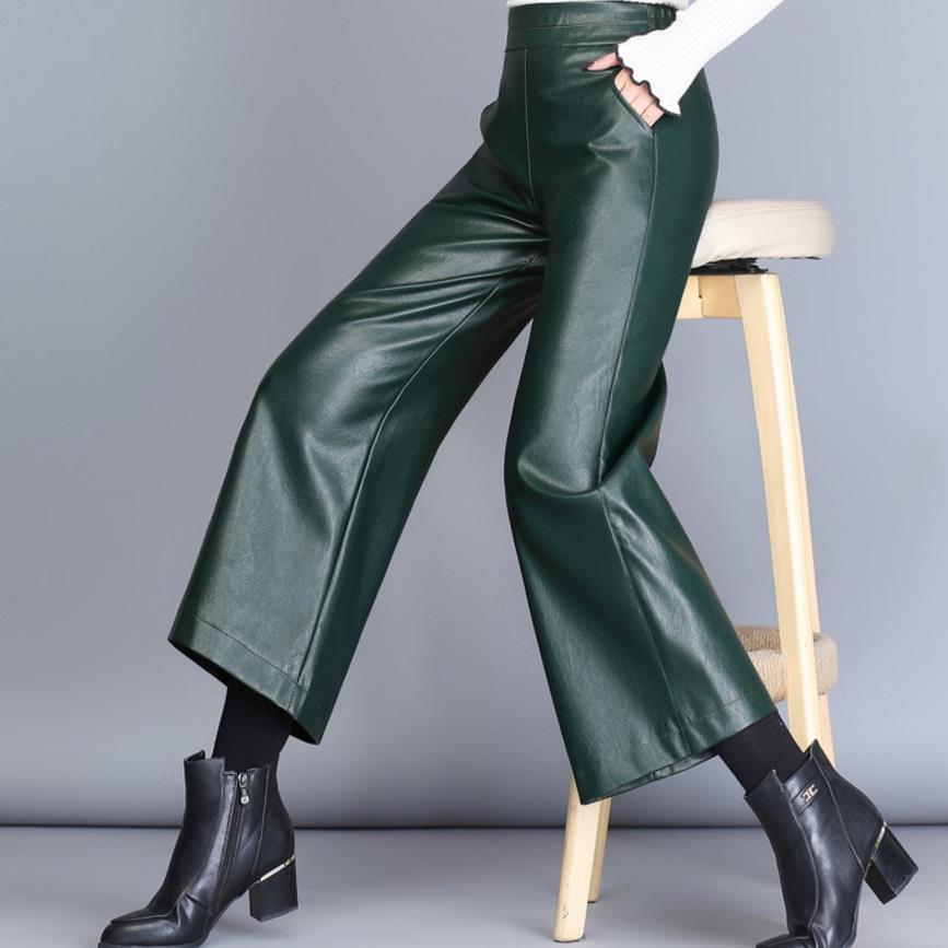 Acheter Pantalon En Faux Cuir Pantalon Femme Pantalon Grande Taille Pantalon Large En Pu De 3528 Du My01 Dhgatecom