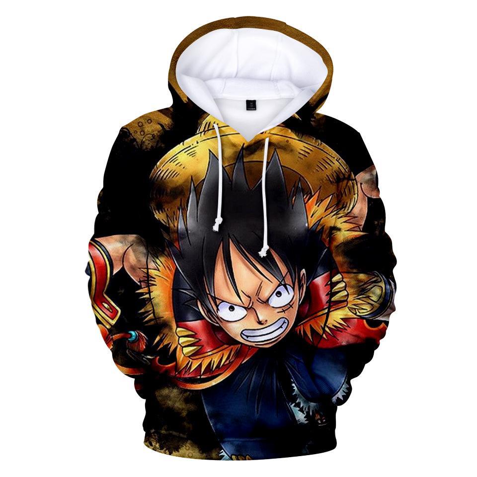 2018 One Piece 3D animée Sweat Harajuku Sweat à capuche Sweat-shirt taille plus unisexe Sweats à capuche et sweat-shirts pour hommes de vêtements décontractés pull-over