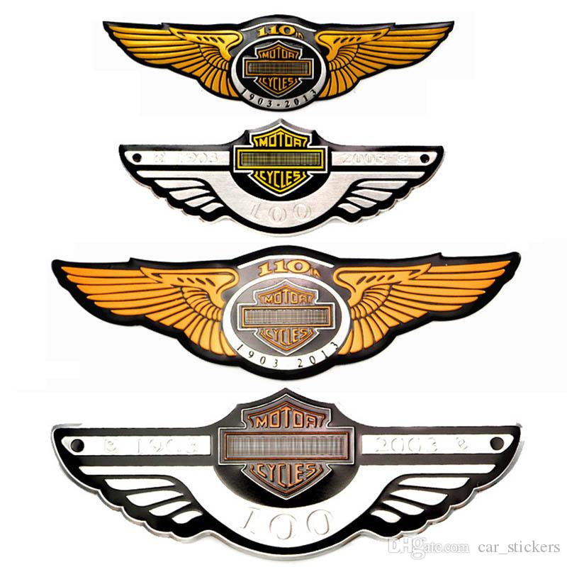 Cool 3D autocollants de voiture Moto Metal Personality Badge Logo Logo Emblem 100 105 110 Anniversaire Auto Funny Styling Sticklings pour Yamaha Harle