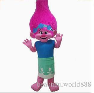 2018 High quality Best Trolls Mascot Costume Poppy costumes Fancy Costume Poppy&Branch Mascot Theme dress for Patty