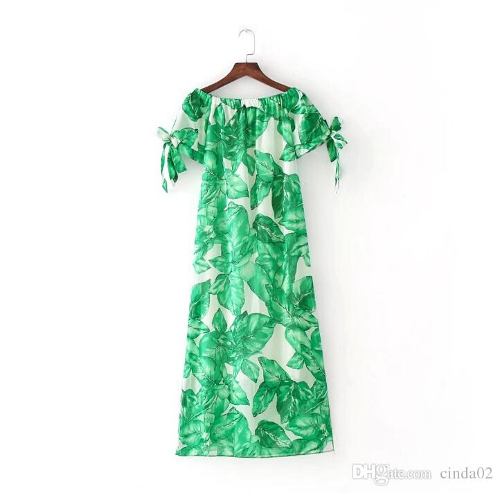 Платья Элегантное печатное женское белое платье Женское платье с вырезом с открытыми плечами Вечерние платья выпускного вечера