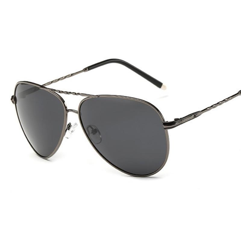 Cubojue hombres gafas de sol polarizadas mujeres de gran tamaño gafas de sol de aviación hombre gafas de sol de conducción para hombre rana moda anti polar UV