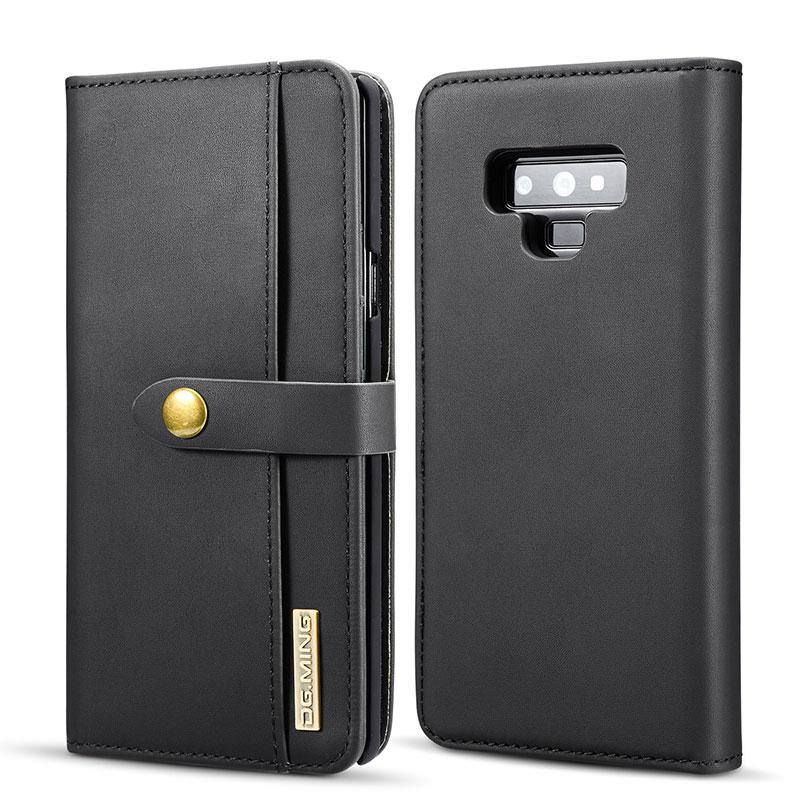 wholesale Luxury Retro Genuine Leather Phone Case for Samsung Galaxy Note 9 8 S8 S9 Plus S7 Edge Card Slot Wallet Magnet Cover Bag