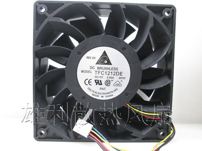 Оптом - бесплатная доставка. Вентилятор 3.9А насильственный ветер 12см вентилятор TFC121212 12V я шахтер вентилятор