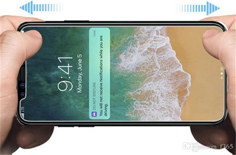 Für Iphone X 10 Ausgeglichenes Glas Iphone 8 8 Plus-Schirm-Schutz Iphone 6 7Plus Film Premium-Qualität für Galaxy J3 Prime