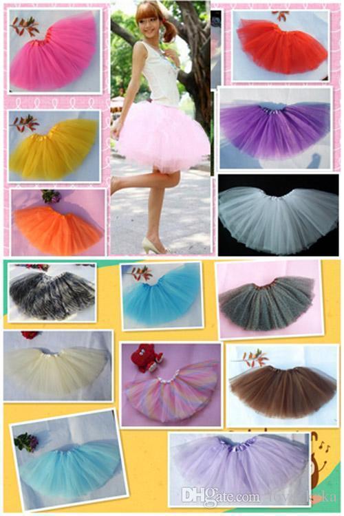 18 colors Top Quality candy color Kids Adult tutu skirt dance dresses soft tutu dress ballet skirt Children pettiskirt clothes