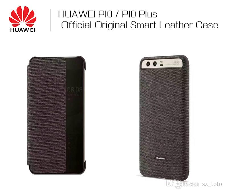 quality design 37fc1 8f41b YunRT HUAWEI P10 Case Original Official Smart View Window Canvas Leather  Flip Case HUAWEI P10 Plus Case Business P10 Plus Flip Cover Ballistic Cell  ...