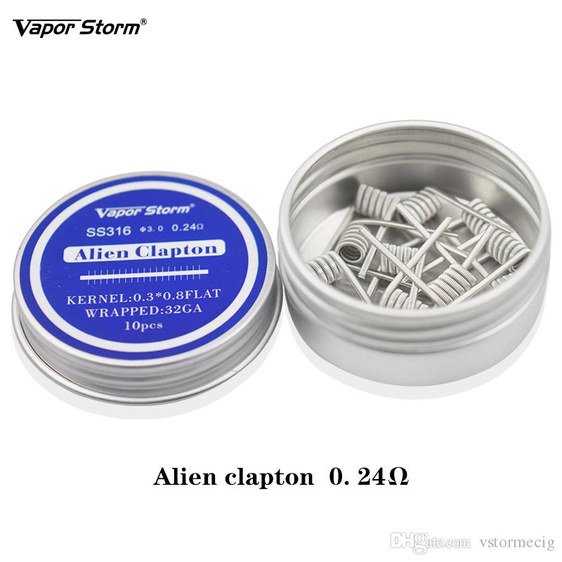 SS316 가열 와이어 코일 RDA 코일 Alien Fused Clapton Tiger Clapton Quad Dual Core