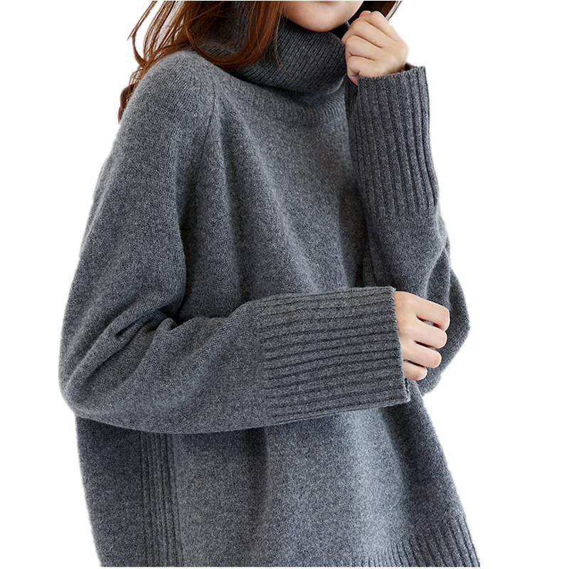 2020 2017 Double Thickening Loose Turtleneck Cashmere Sweater Female Sweater Cashmere Pullover From Vanilla06, $65.23 | DHgate.Com