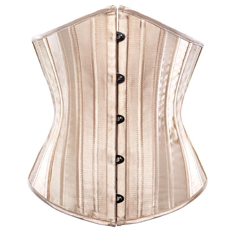 AIZEN aço desossada underbust corpete shaper do corpo mulher sexy cintura controle corsets bustiers cintura de cetim preto cincher corselet