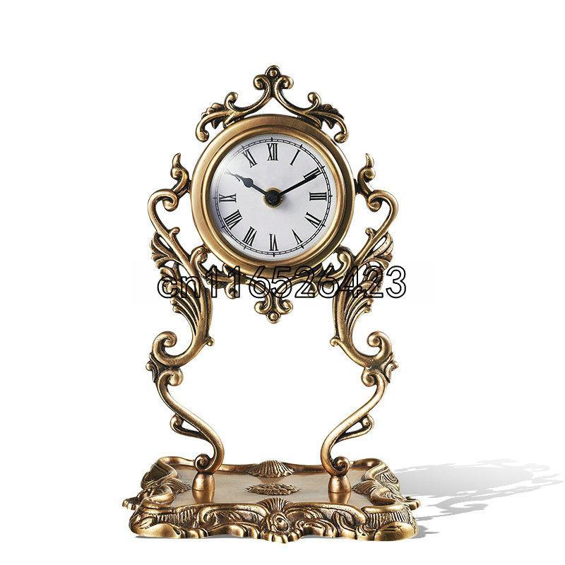 Hochwertige kreative Kupfer Uhr Wohnzimmer Dekor Kostenloser Versand