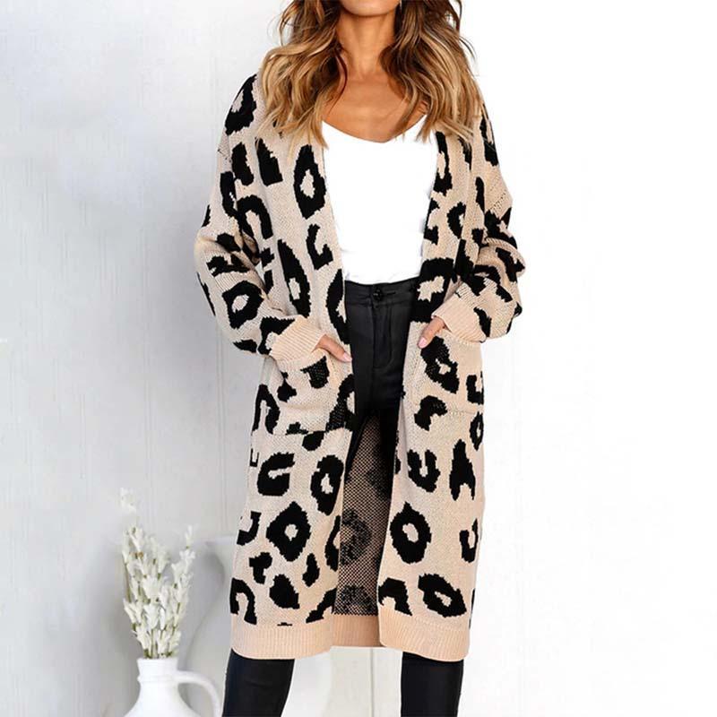 2018 Femmes Cardigan Automne Tricoté Chandail Manteau De Mode À Manches Longues Chaud Solide Dames Chandail Veste Long Manteau Survêtement 6Q2075