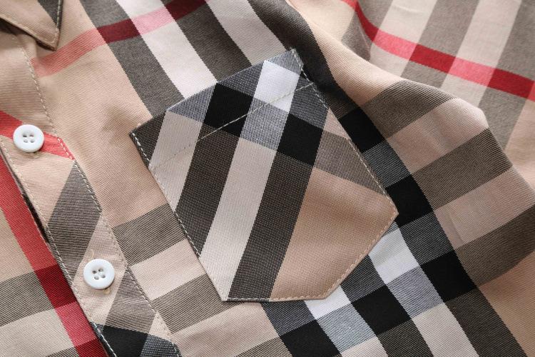 Children'S Garment 2018 Autumn New Pattern Catamite Shirt Pure Cotton  Lattice Long Sleeve Rendering Unlined Upper Garment Jacket Cardigan Shirts  For