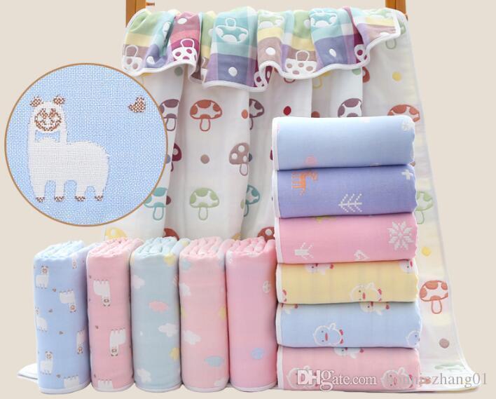 10pcs Wholesale 100% Cotton Gauze Quilt Kids Bedding Blanket Summer Quilt Keep Warm Or Baby Bath Towel 110cm*110cm