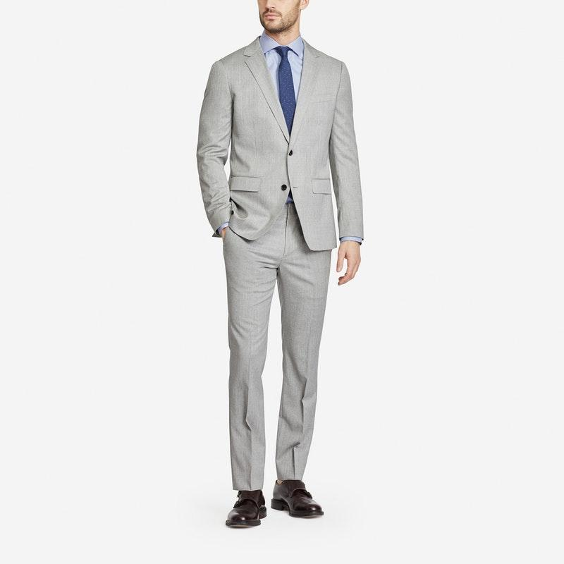 2018 latest coat pant designs grey men suits smart casual suits for business wedding handsome groom tuxedos male blazer 2 pieces
