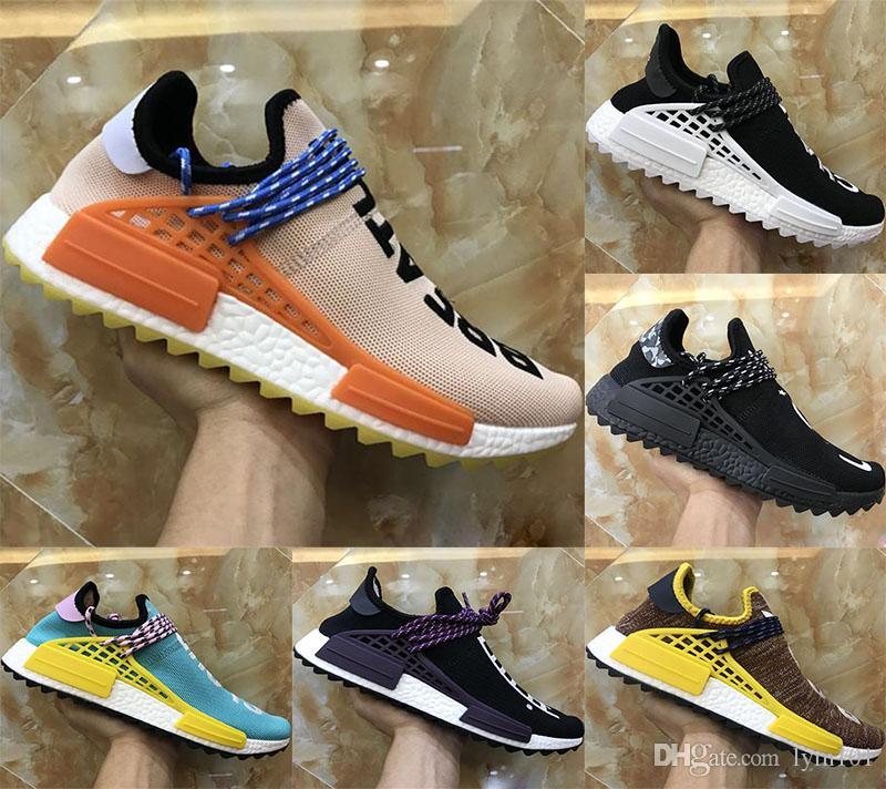 High Quality Boosts Nmds Human Race Knitting Kids Athletic Shoe Original Human Race Pharrell Williams Hu NMD_TR Boosts Kids Running Sneaker