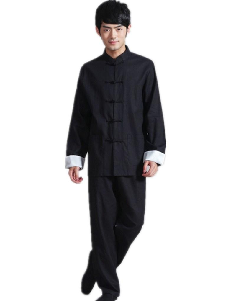 Shanghai Story chinese style tang costume chinois traditionnel vêtements pour hommes mandarin collier chinois chemise + pantalon ensemble