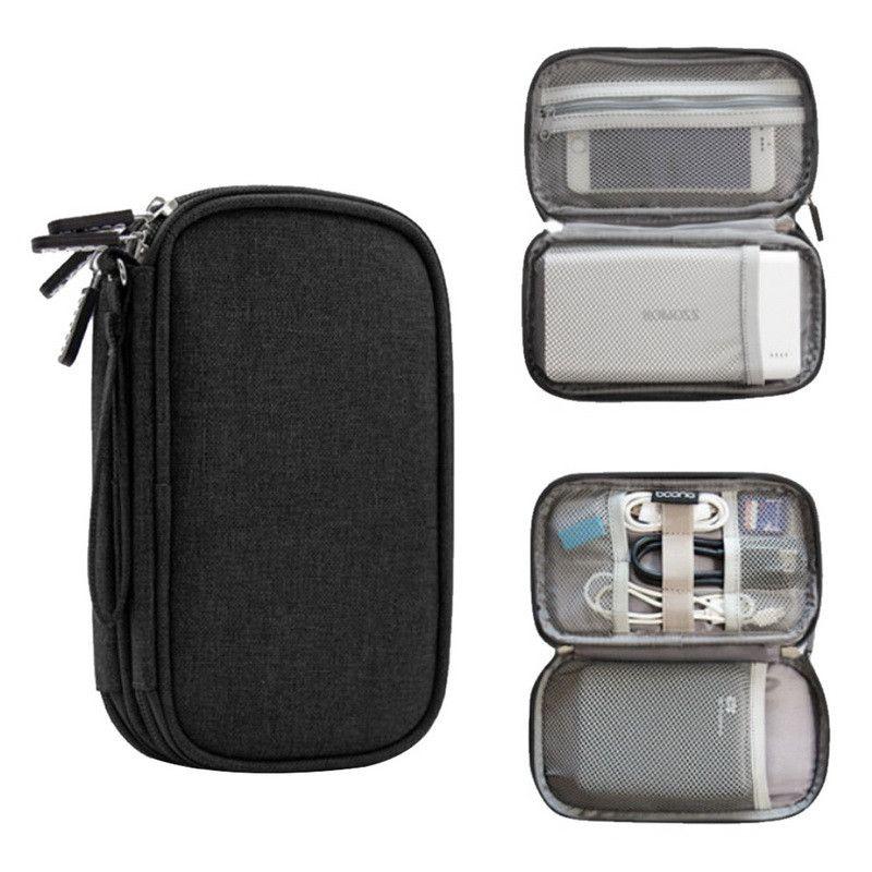 Saco de Organizador de Viagem Eco-Friendly Gadget Saco de Cabo Digital Portátil Acessórios Eletrônicos Armazenamento Bolsa de Transporte Bolsa Para Banco de Potência Usb