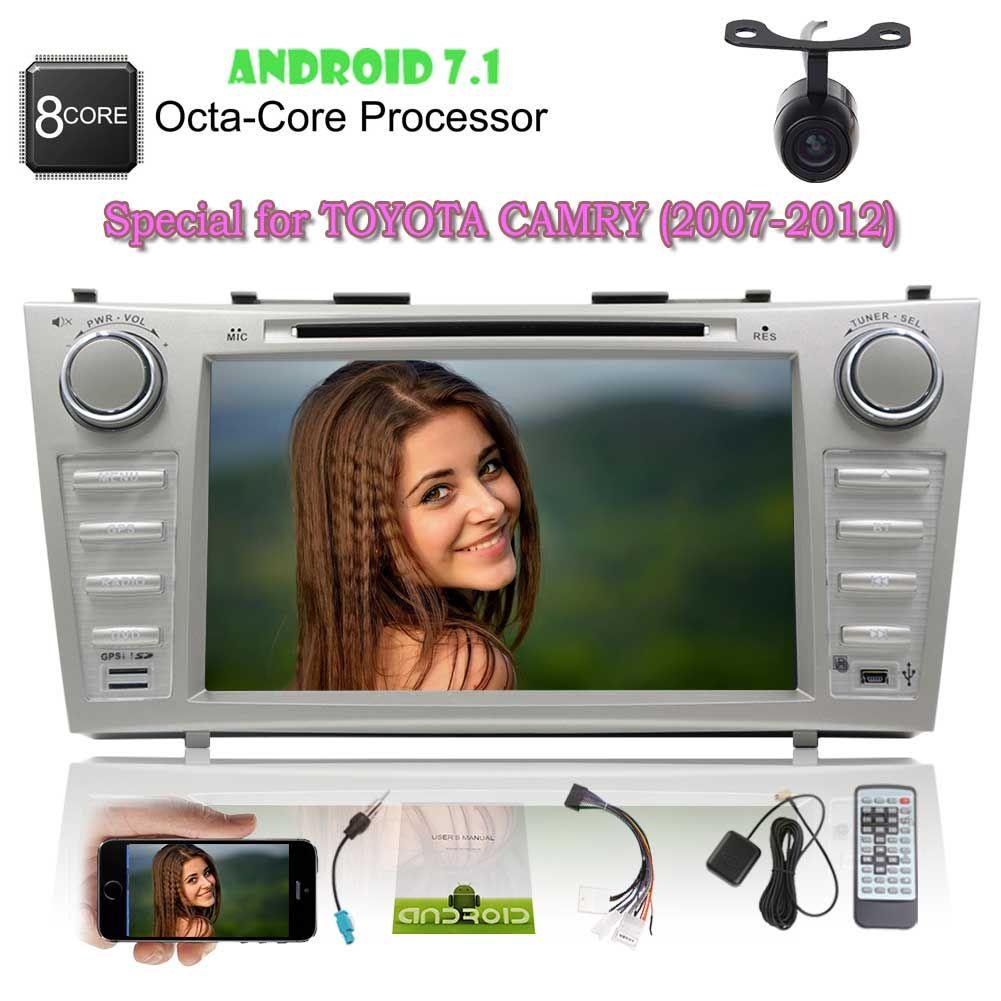 استريو السيارة لـ TOYOTA CAMRY Android 7.1 Autoradio Double 2Din Car DVD Player HeadUnit GPS Navigation Vehicle Monitor Bluetooth FM / AM SWC