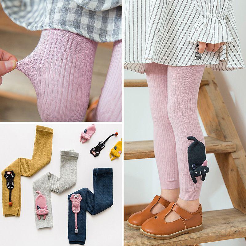 Baby Girl Pants Spring Leggings Girl Cute Bow 3D Animal Trousers Lovely Kids Leggings Autumn Cotton Pants Kids Clothes