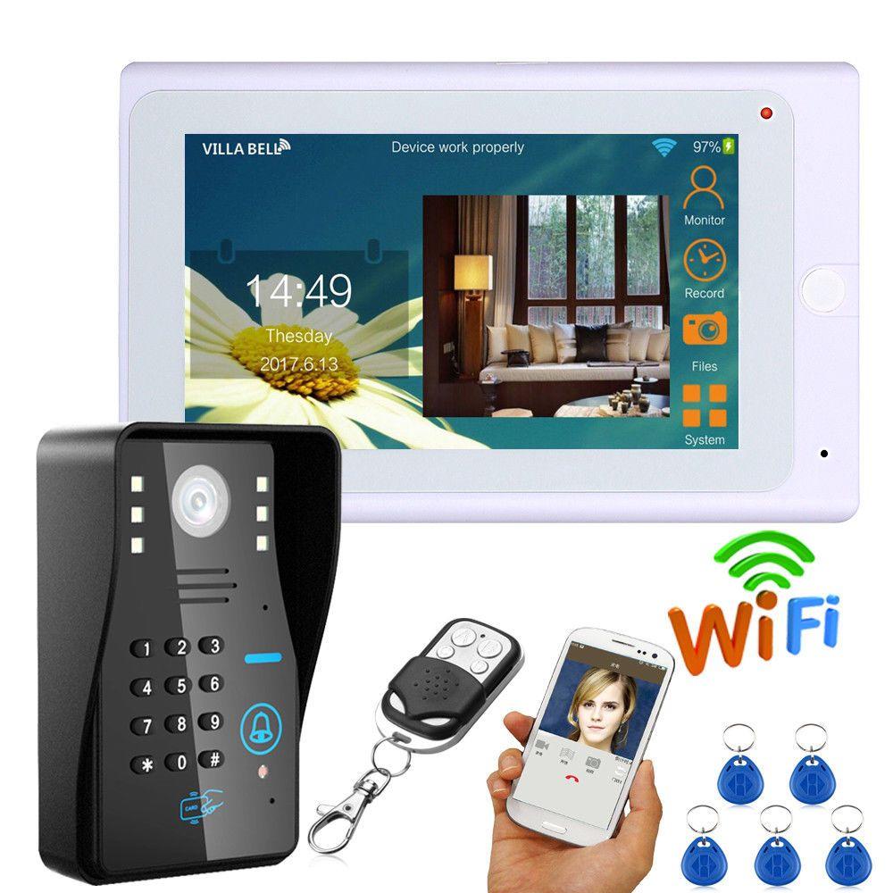 7 Inch wireless/ wired Video Doorbell intercom Video Door Phone ID keyfob password