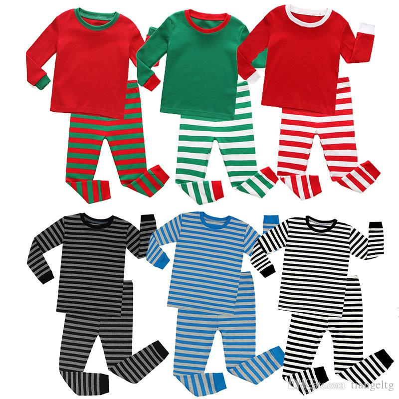 Kids Pajamas Home Clothes Christmas Pajamas Boys Girls Bedgown Leisure Wear Autumn Winter Two-piece Clothing Sets Christmas Nightgown2-8T
