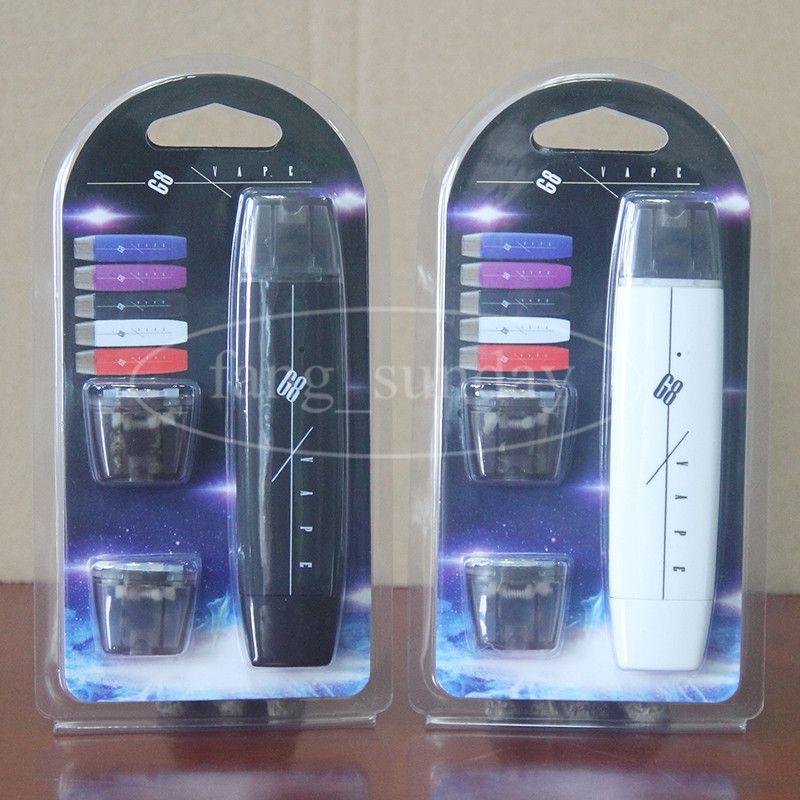 Authentic G8 Wax Oil Vape Pen Starter Kits Blister Pack with 300 mAh E Cigarette Battery 1ml Vaporizer Cartridge Pods Ecpow