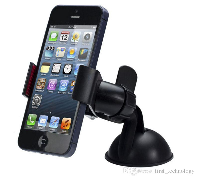 New Balck White Universal Car Holder Car Windshield Mount Holder phone For iPhone 5S 6S SE 7 MP3 GPS for Samsung