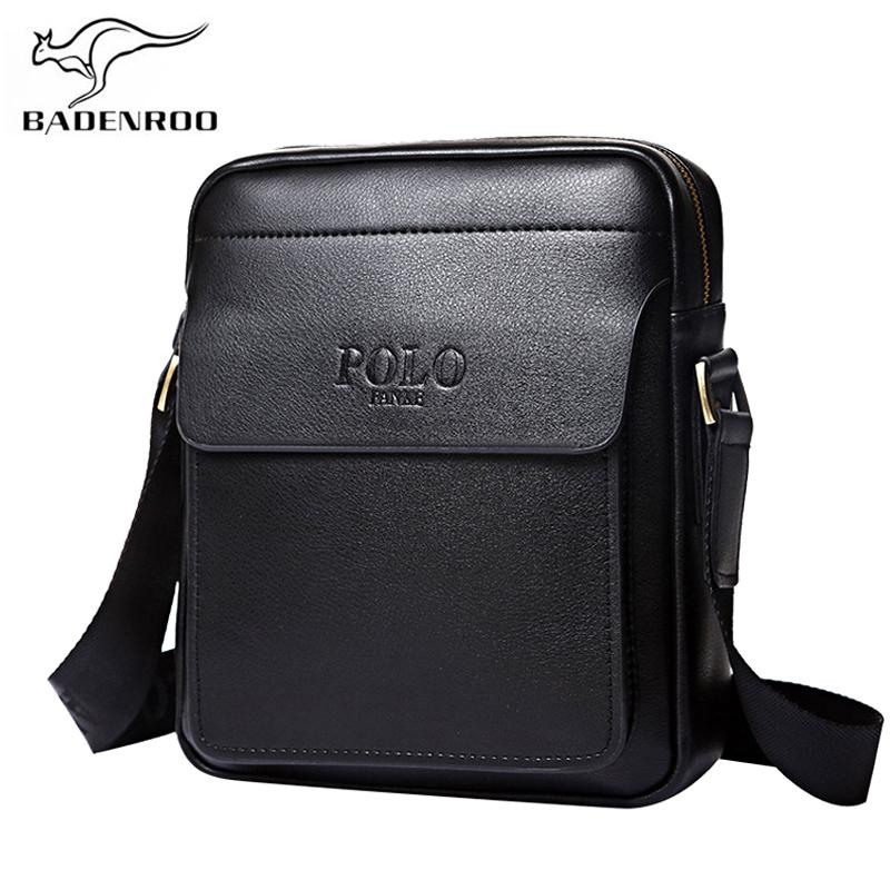 Badenroo cuero genuino Polo hombres bolsos de hombro Classical Messenger Bag Cross Body Bag Moda Casual Business bolsos para hombres