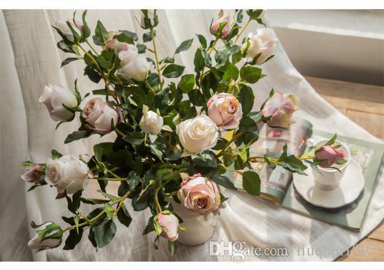 Mazzo Di Fiori In Francese.Acquista Seta Artificiale 1 Mazzo Di Fiori Rosa Francese Bouquet