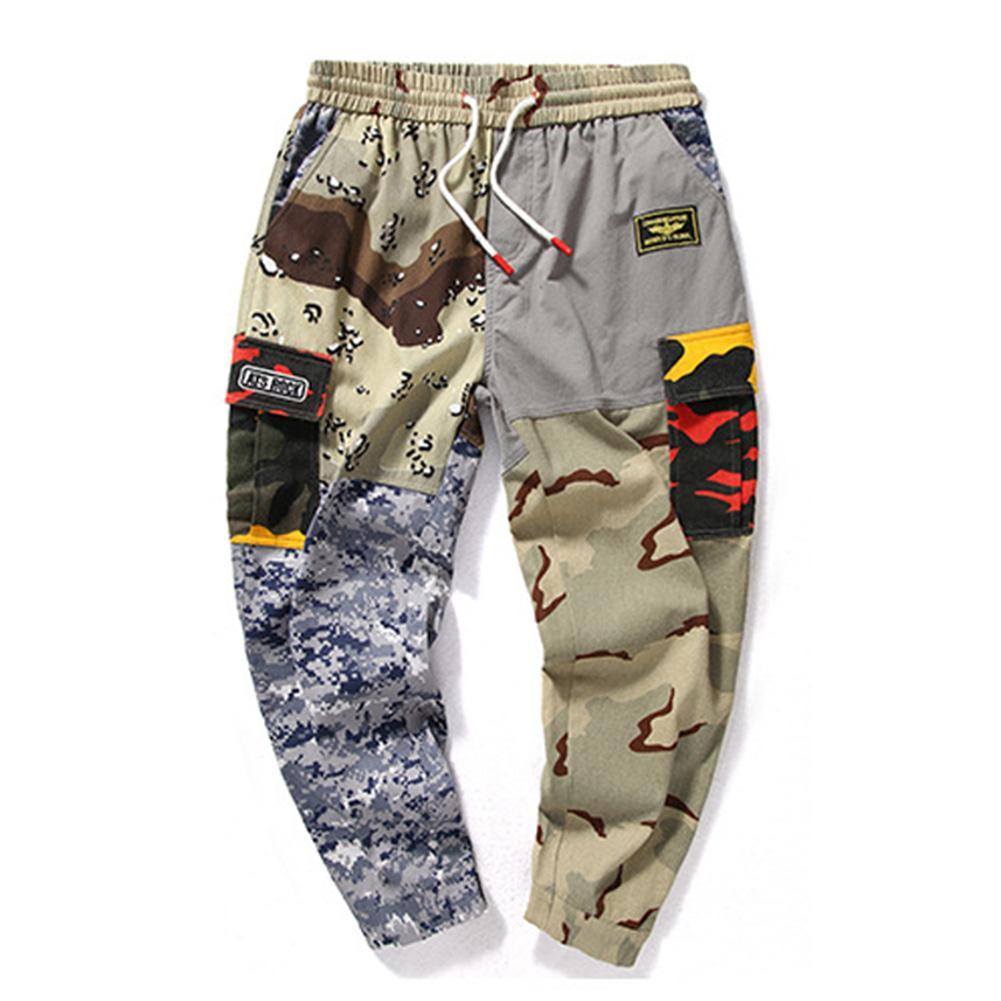 Pantalons pour hommes, longueur cheville, cordon, pantalons de jogging Baggy Harem Pantalon en patchwork, pantalon 2018 Hot Casual Joggers, pantalon à la cheville