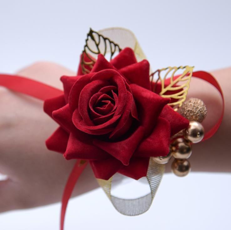 Suministros de boda, decoración de boda, estilo chino, estilo chino, novia de boda, dama de honor, flor de muñeca
