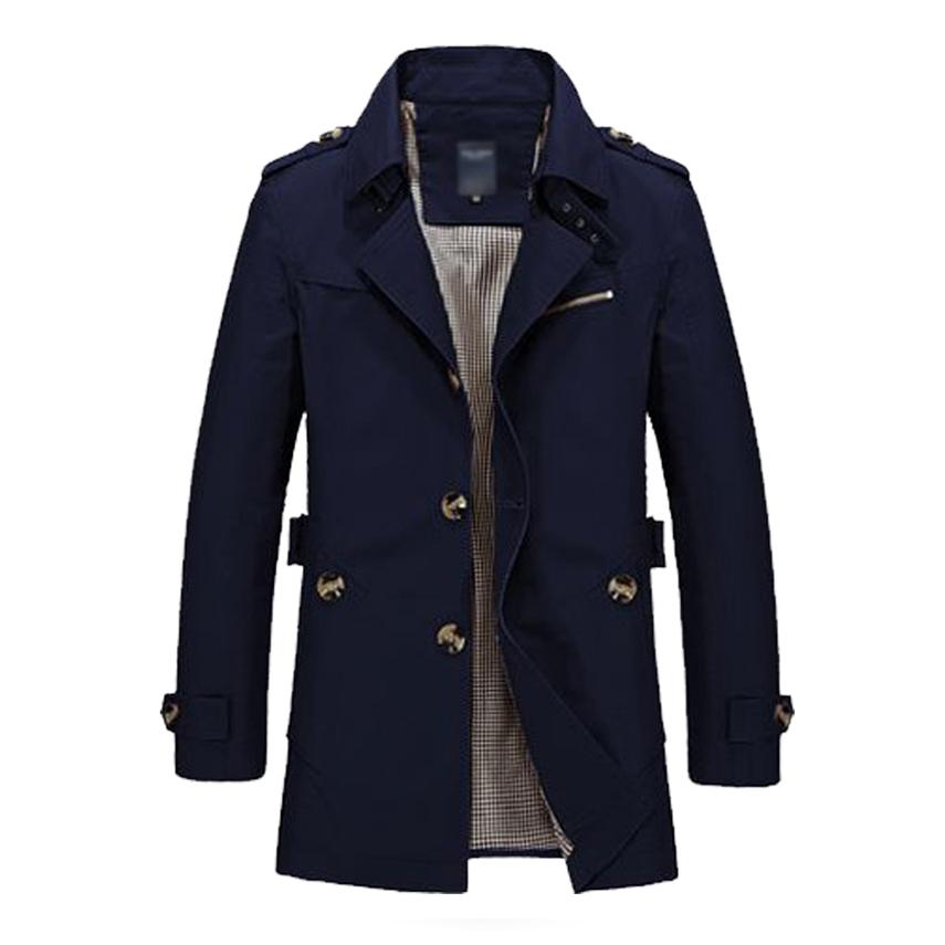 Men Jacket Coat Long Section Fashion Trench Coat Jaqueta Masculina Veste Homme  Casual Fit Overcoat Jacket Outerwear 5XL