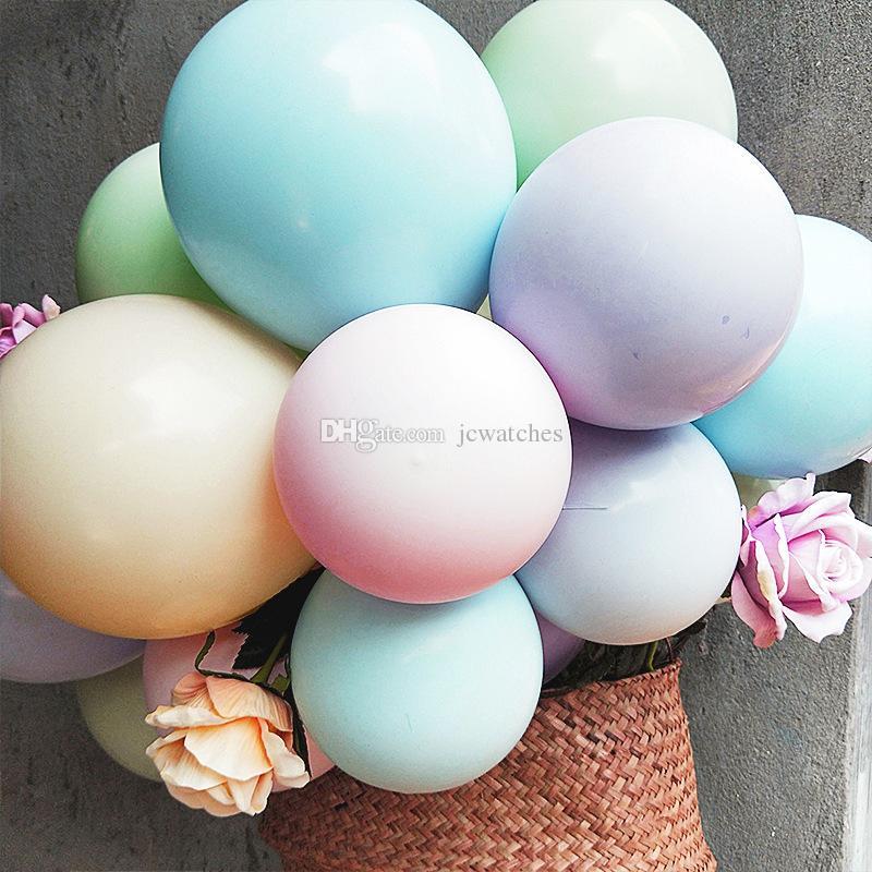 10 pulgadas Globo de látex Macaron Color Decoración de la boda Baloons Fiesta de cumpleaños del bebé Día de San Valentín Decoración Globo